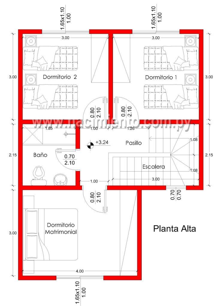 presupuesto construccion sencilla de 3 dormitorios 233 a cuotas en