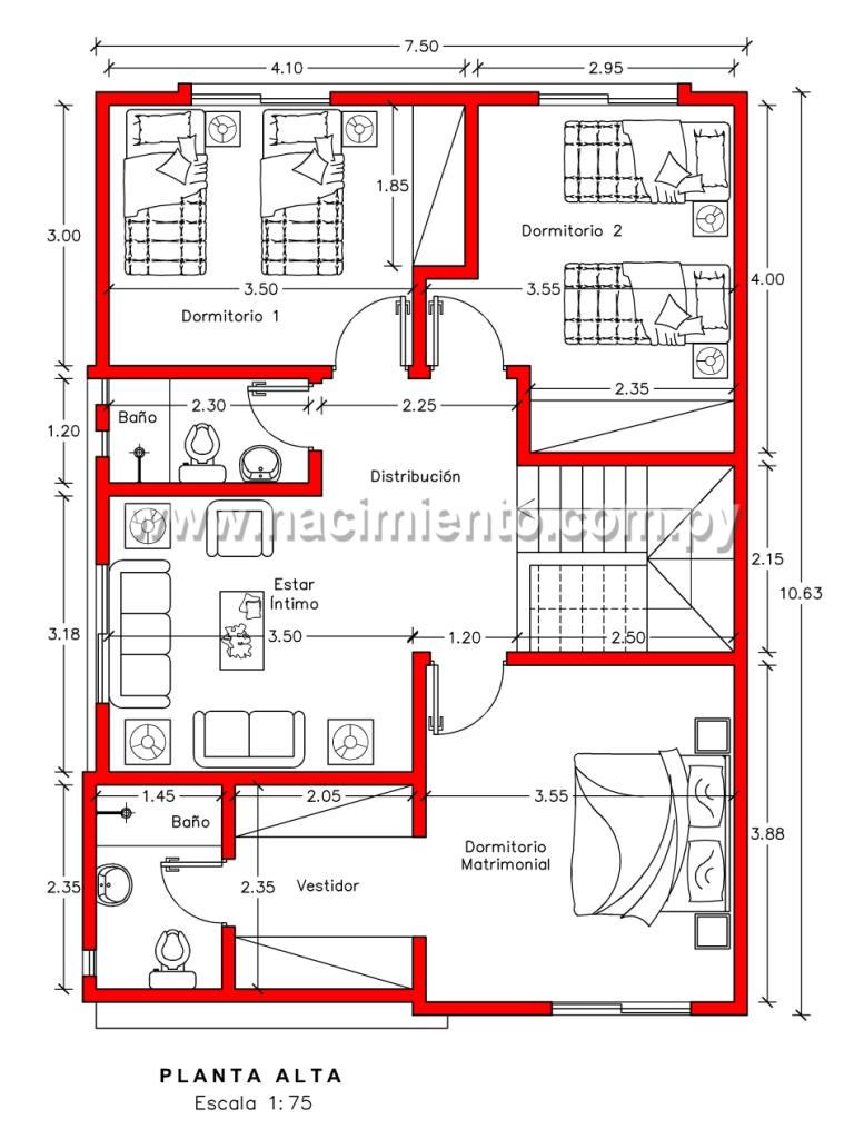presupuesto construccion sencilla de 3 dormitorios 373 en paraguay
